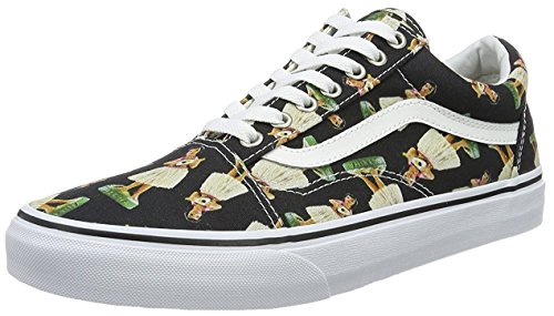 Vans Mens Old Skool Low Top Lace Up Fabric Skateboarding Shoes, MultiColor, Size 10