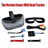 Aomway Commander V1 Diversity 3D 40CH 5.8G FPV Goggles w/ DVR Support HDMI and Head Tracker (Free ARRIS Battery Straps)