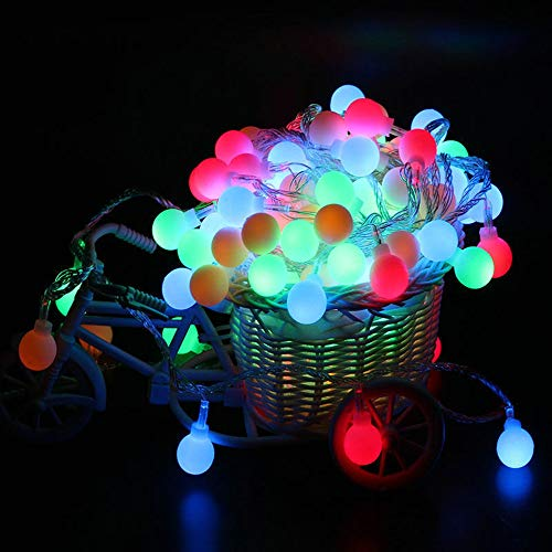 Goldseller Fairy LED String Lights 3.94ft 10LED Christmas Round Ball Blubs Wedding Party Garden Lamp Waterproof Christmas Decorations Ornaments Set Christmas LED Light (Multicolor) ()
