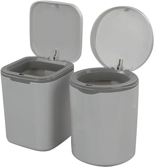 Lesbye 1.8 L Mini Plastic Desktop Trash Bin Dustbin Waste Bin Garbage Bin Grey