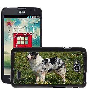 Super Stella Slim PC Hard Case Cover Skin Armor Shell Protection // M00147935 Dog Young Dog Australian Sheperd // LG Optimus L70 MS323