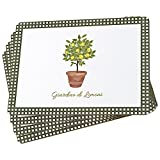 "The Italian Garden Lemon Tree Placemats, Set of 4, Cork Backed Board, Heat Resistant, Rustic Home Style, 16 x 11 ¼"" By Whole House Worlds"