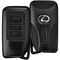 DAYJOY Premium Aluminum Car Key Shell Cover With Key Chain For LEXUS ES IS GS RC NX RX LS SERIES SERIES remote control Smart Key (BLACK)