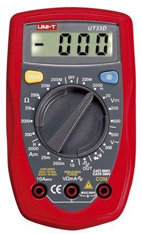 easy electronics UNI-T UT-33d Digital Multimeter (Red)