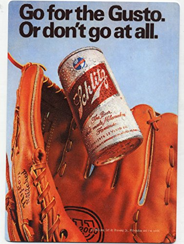 Old Milwaukee Beer Signs - Schlitz Beer - METAL Beer display sign - Milwaukee WI - Baseball Glove