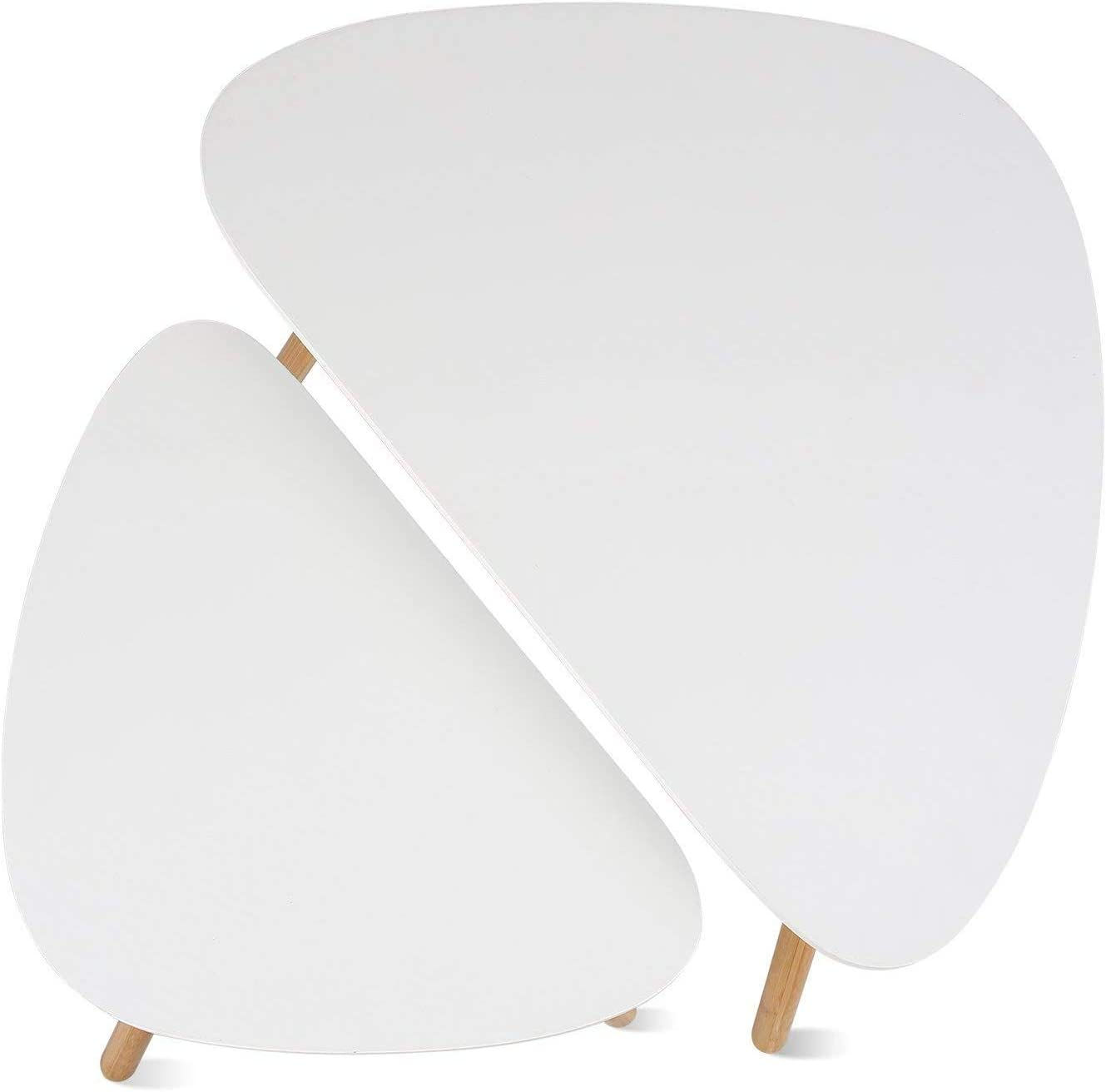 45x29.5x40cm small 60x39.5x45cm NOBRAND Side table white coffee table round living room table Scandinavian coffee table small nesting table set large