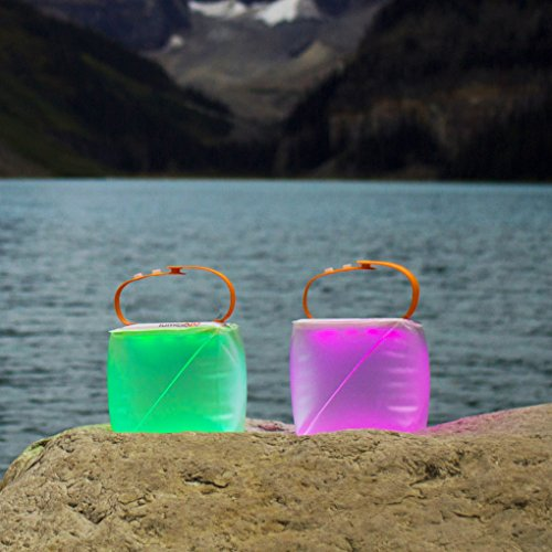 LuminAID PackLite Spectra Color Changing Solar Inflatable Lantern