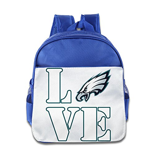 HYRONE Love Philadelphia Logo Eagles Boys And Girls Shoulders Bag For 1-6 Years Old RoyalBlue