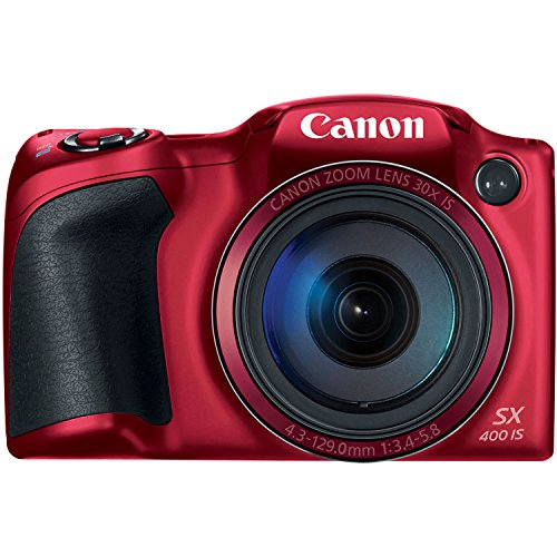 Canon PowerShot SX400 Digital Camera with 30x Optical Zoom (Red) by Canon