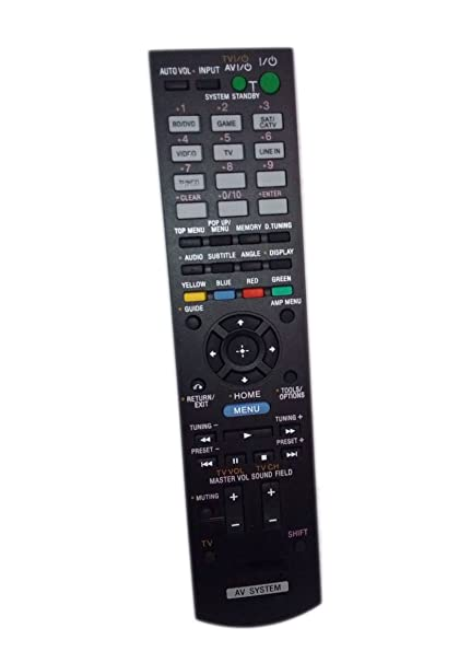 amazon com replaced remote control compatible for sony ht ct550w rm rh amazon com Sony Receiver Troubleshooting sony av receiver str-ks380 manual