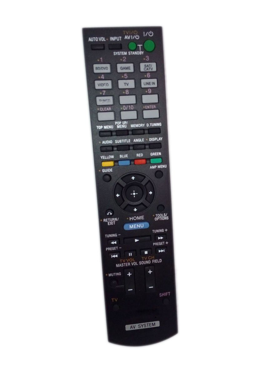 Replaced Remote Control Compatible for Sony HT-CT550W RM-AAU120 1-489-508-11 HTSS380 STR-KS380 Audio / Video AV Receiver Home Theater System