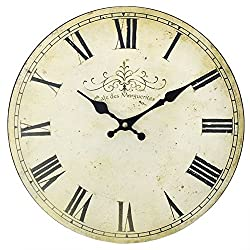 Something different 13.4in Vintage Style Clock (One Size) (White)