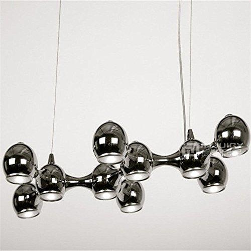Injuicy Lighting Nordic Engineering - Lámpara de café, candelabro para techo de iluminación con diseño de luz colgante de...