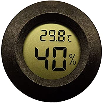 digital hygrometer for humidor. topyart digital cigar humidor hygrometer thermometer temperature round black for