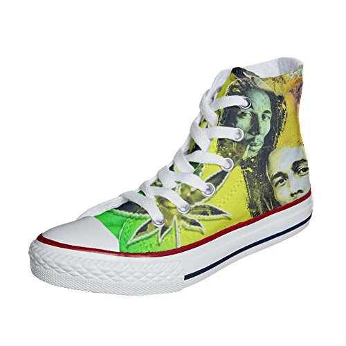mys Converse All Star Customized - Zapatos Personalizados (Producto Artesano) con Bob Marley