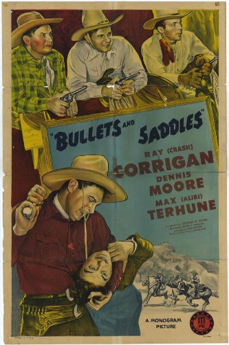Home Comforts Bullets and Saddles (1943) Laminated Movie Poster Version 4 Print 24 x 36