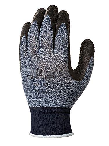 Showa Gloves SHO341G-L No.341 Advanced Grip Glove, Size: L, Grey-Blue/Black