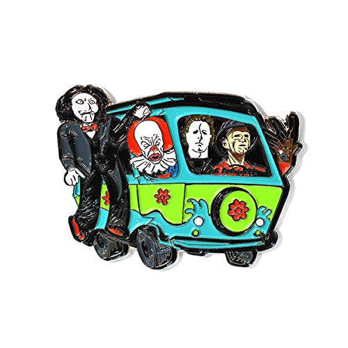 - Horror Movie Pin Jigsaw Michael Myers Freddy Krueger IT Mystery Machine Pendant Lapel Hat Pin