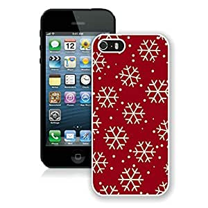 Niche market Phone Case Iphone 5S Protective Cover Case Christmas Snowflake iPhone 5 5S TPU Case 8 White