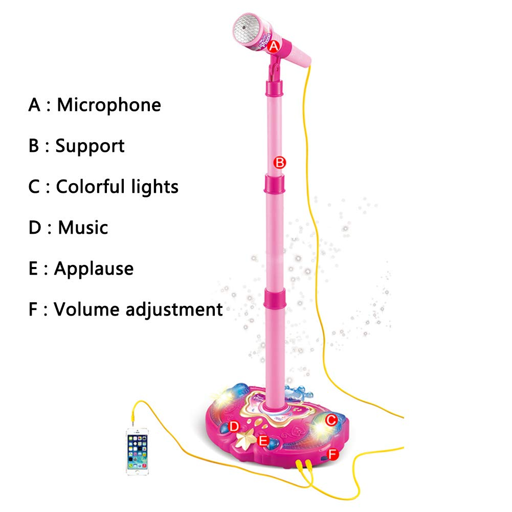 Kids Karaoke Portable Singing Music Player Karaoke Machine with Microphone Early Education Single Microphone Connectable Phone by Mababys (Image #2)