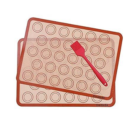 Macarons Alfombrillas de silicona para hornear (42 x 29,5 cm ...