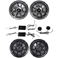 KICKER 43CSS654 6.5 600w Car Audio Component Speakers+2) 43CSC654 6.5 Speakers