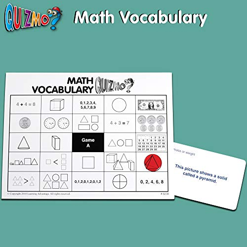 51h6mhcw5SL - Learning Advantage QUIZMO Advanced Elementary Math Series - Set of 6 Bingo-Style Math Games for Kids - Teach Fractions, Decimals, Math Vocabulary, Geometry, Place Value and Integers