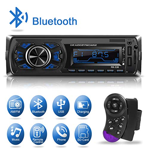 Support iOs 2 USB Port Hands-Free 4x65W Receiver Car Radio Bluetooth,CENXINY 1-DIN Car Stereo with MP3 Player Android Device