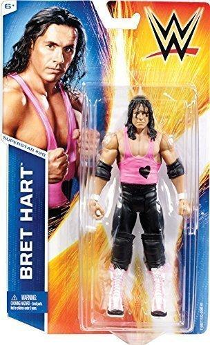 WWE UK Bret The Hitman Hart Series 49 #28 Basic Mattel Wrestling Action Figure