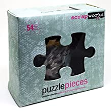 ScrapWorks cb103 Kit 54 Seaside Collection Chip Board Puzzle Pieces + 58 Color Alphabet Rubz Rub-ons