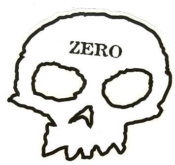 Zero Skate Sticker Skateboard Marken Aufkleber White 1