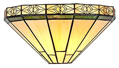 """Chloe Lighting CH31315MI12-WS1 Belle Tiffany-Style Wall Sconce with 12"""" Wide"""