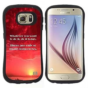 "Pulsar iFace Series Tpu silicona Carcasa Funda Case para Samsung Galaxy S6 , Hoy Mañana Momento hacer cita"""