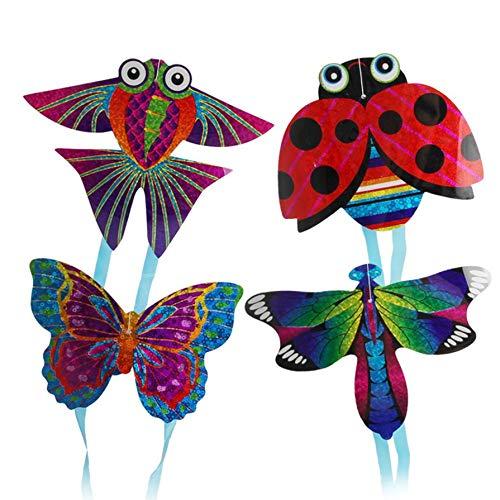 [해외]휴대용 아이 야외 친자 인터랙티브 장난감 만화 비행기 나비 곤충 미니 연 멀티 컬러 1 크기 / Portable Kids Outdoor Parent and Child Interactive Toy Cartoon Airplane Butterfly Insect Mini Kite MultiColor 1 Size
