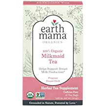 Earth Mama Organic Milkmaid Tea Bags for Breastfeeding and Breast Milk Support, 16-Count