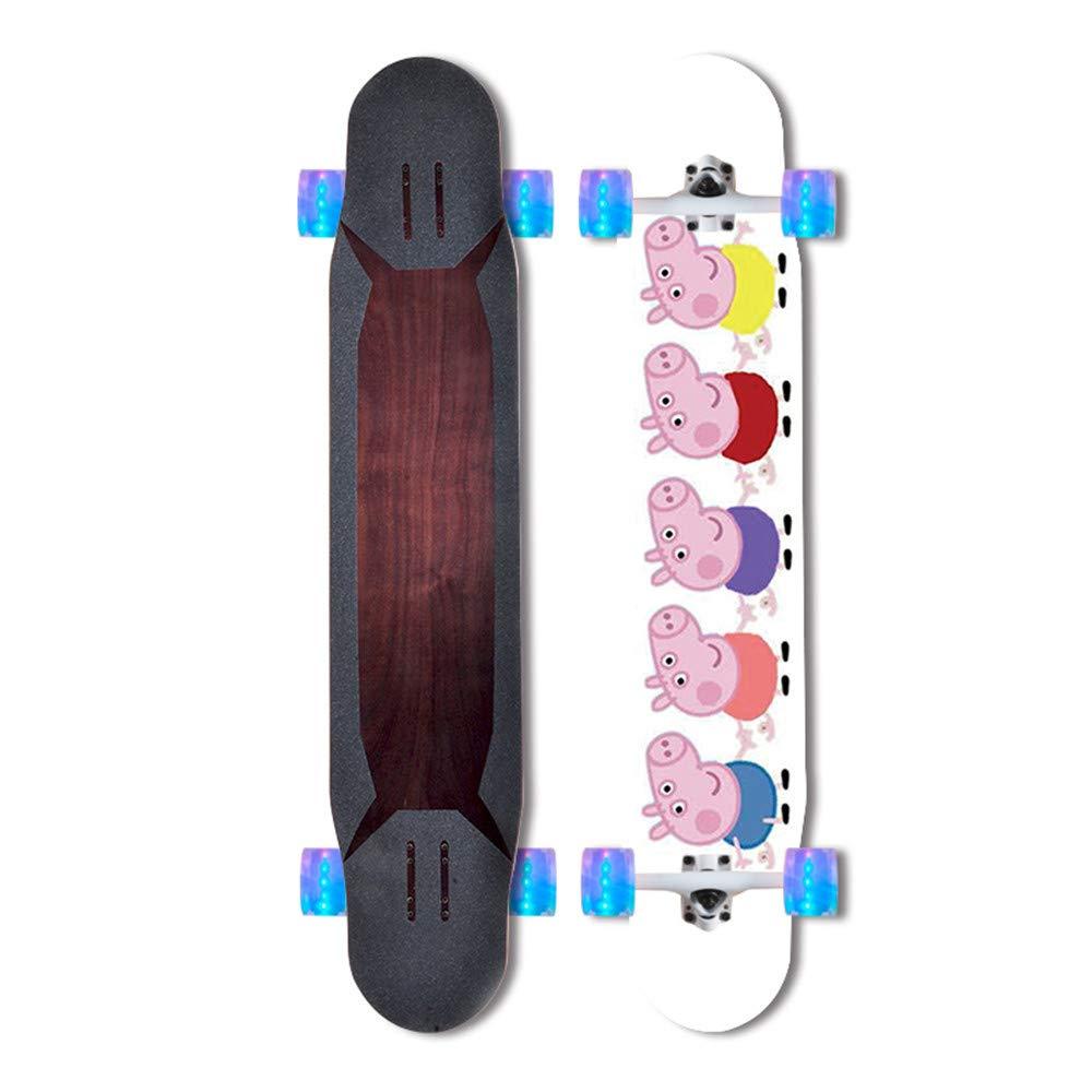 buscando agente de ventas KD Deportes al Aire Libre Adolescente Skateboard Lindo Lindo Lindo patrón Adecuado para Las niñas para Utilizar un patín de Skate de Arce de Principiante de Grado Profesional de Skate de Lujo se lo merecen,2  conveniente