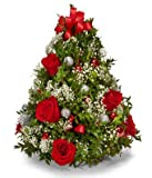 Love-Filled Christmas Tree - Send Christmas Flowers - Christmas Flowers & Centerpiece - Christmas Flowers Online - The Shopstation Christmas Flower Delivery