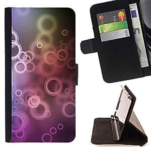 - Circles - - Monedero PU titular de la tarjeta de cr????dito de cuero cubierta de la caja de la bolsa FOR Samsung Galaxy S5 Mini, SM-G800 RetroCandy