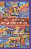 English Syntax and Argumentation, Bas Aarts, 0333949870