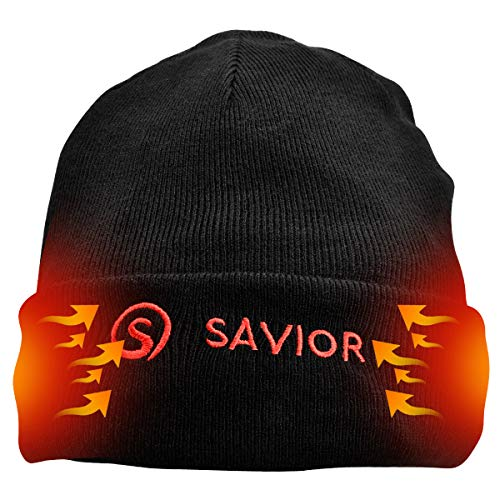 Heated Hat,7.4V 2200MAH Electric Rechargable Battery Heating Hat for Men Women,Winter Insulated Thermal Warm Hat Cap for Outdoor Sports Hunting Fishing Hiking Motorbike Cycling Riding,Heat Up to 2-6 H
