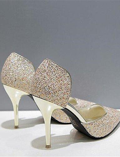 GGX/ Damen-High Heels-Lässig-PU-Stöckelabsatz-Absätze-Rot / Silber / Gold golden-us6.5-7 / eu37 / uk4.5-5 / cn37