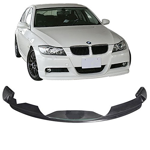 Front Bumper Lip Fits 2005-2008 BMW E90 3-Series | Black PU Mtec & M-Sport EURO Guard Protection Finisher Under Chin Spoiler by IKON MOTORSPORTS ()