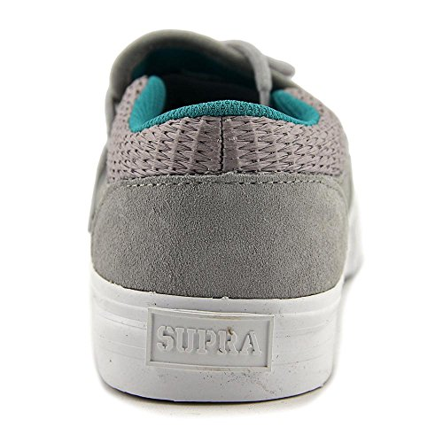 Light Round Women Toe Skate Grey Supra Black Cuba Shoe White Suede 8BaqxEAx