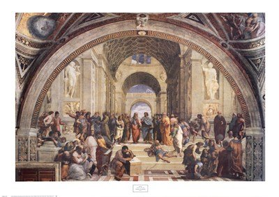 - The School of Athens, c.1511 by Raphael - 38x27 Inches - Art Print Poster