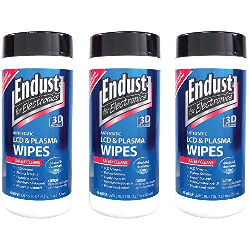Endust Lcd - 3 Pack Endust 11506 Lcd & Plasma Monitor Cleaner Pop-up Wipes (NOZ11506KIT)