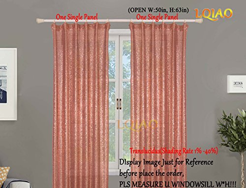 LQIAO 2018 New Sequin Rose Gold Curtains 50x63in Sparkly Rose Gold Fabric Photography Backdrop for Bedroom, Kitchen, Kids Room or Living Room,1 Panel Drapes 50-Inch-by-63-Inch Hooks Style Possible by LQIAO