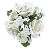 Garden Rose Topper Bouquet White by Chef Alan Tetreault