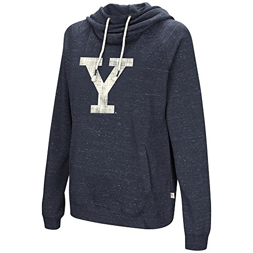 (Colosseum Womens Yale Bulldogs Pull-Over Hoodie - L)
