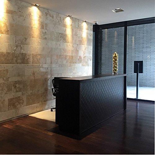 Panel decorativo autoadhesivo polipiel acolchada WallFace 15030 ROMBO Rombos pespunte de imitación negro 2,60 m2: Amazon.es: Bricolaje y herramientas