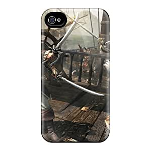 Excellent Iphone 4/4s Case Tpu Cover Back Skin Protector Assassins Creed Iv: Black Flag